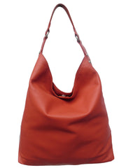 Pancho Hobo Bag Napa Leather Paprika Or Sand