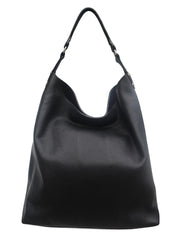 Pancho Hobo Bag In Pebble Grain Leather