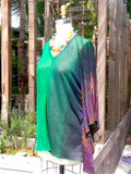 Caftan Top Linen Knit V Neck