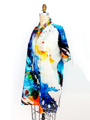 Cotton and Silk Blouson Tunic