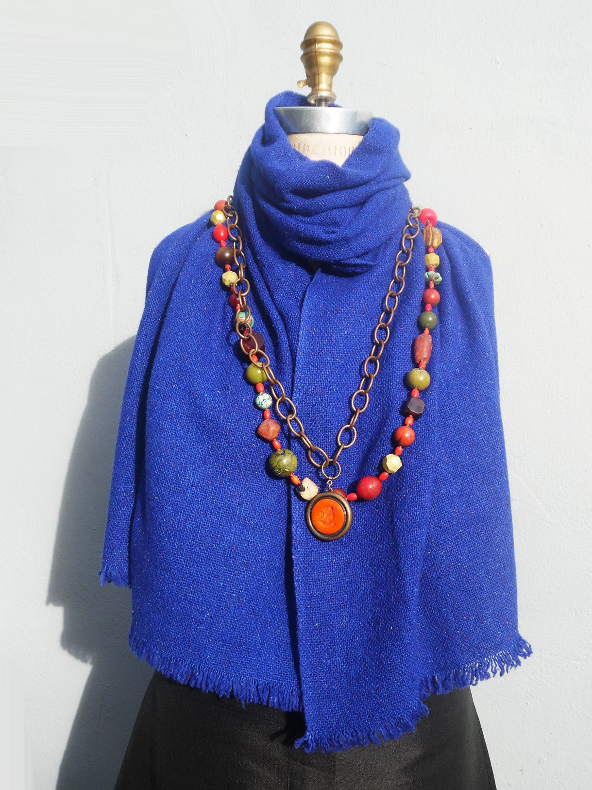 Scarf Silk And Cashmere Heather Unisex