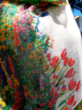 Shawl Silk And Cashmere Monet Floral