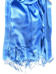 Alpaca and Silk Gauzy Shawl Cornflower