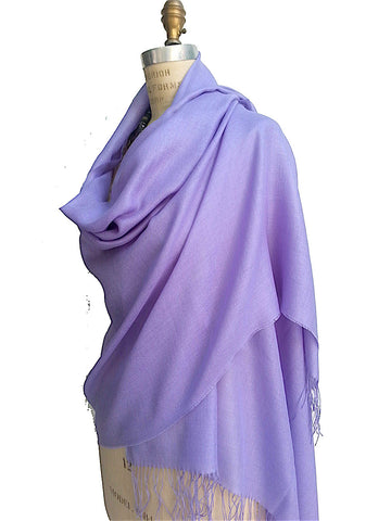 Alpaca and Silk Gauzy Shawl Lavender