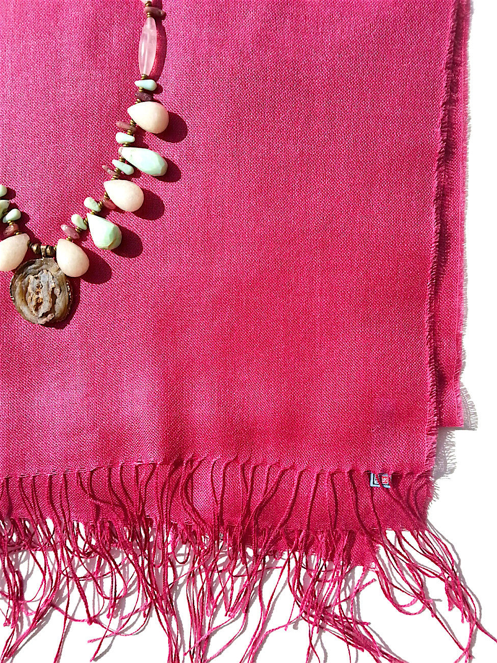 Alpaca and Silk Gauzy Shawl Rose