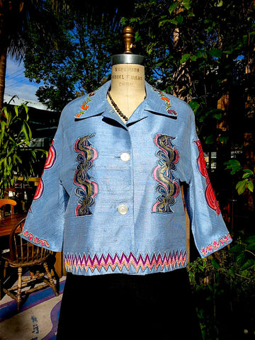 Couture Cut Peace Jacket Baby Blue