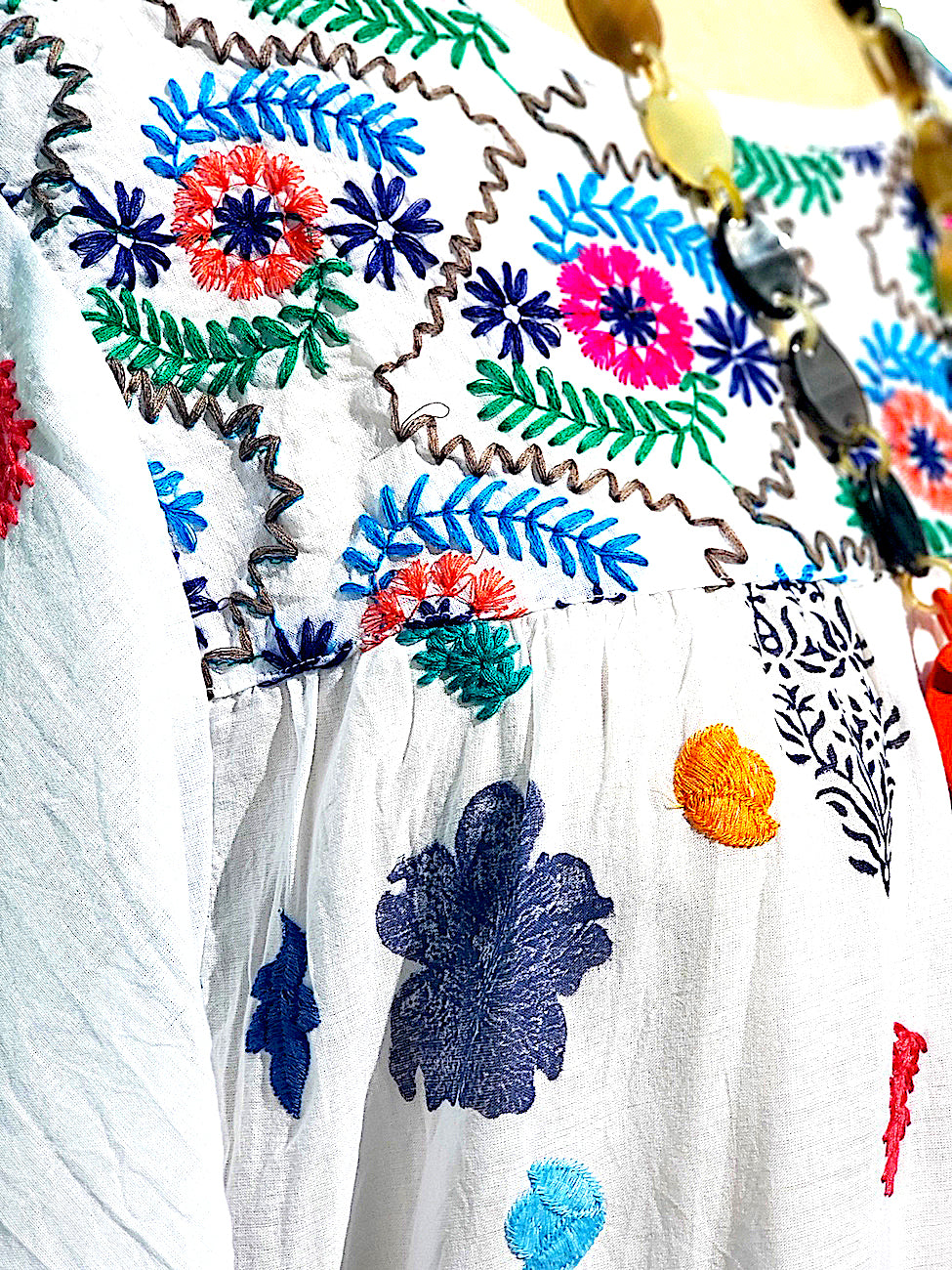 Hand Embroidered Cotton Dress