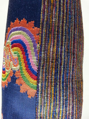 Burmese Silk Pillow Blue Multi