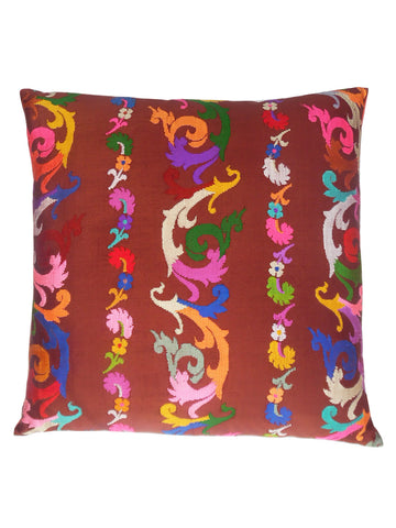 Burmese Silk Pillow Chocolate