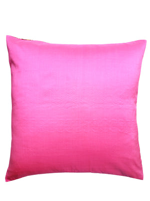 Burmese Silk Pillow Red Pink