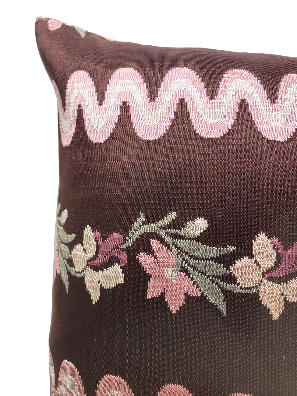 Burmese Silk Pillow Eggplant Pink