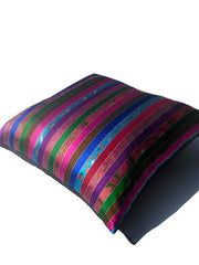 Silk Ikat Multi Stripe 22 inch floor pillows