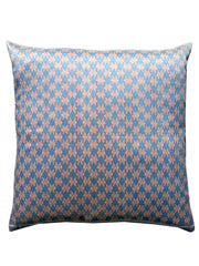 Cambodian Silk Ikat Pillow Baby Blue And Pink