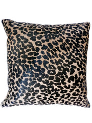Leopard Print Cowhide 20 inch Pillow