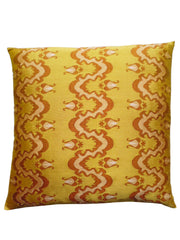 Burmese Silk Pillow Gold Caramel