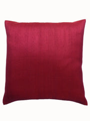Thai Silk Modern Ikat Pillow Chartreuse Cranberry
