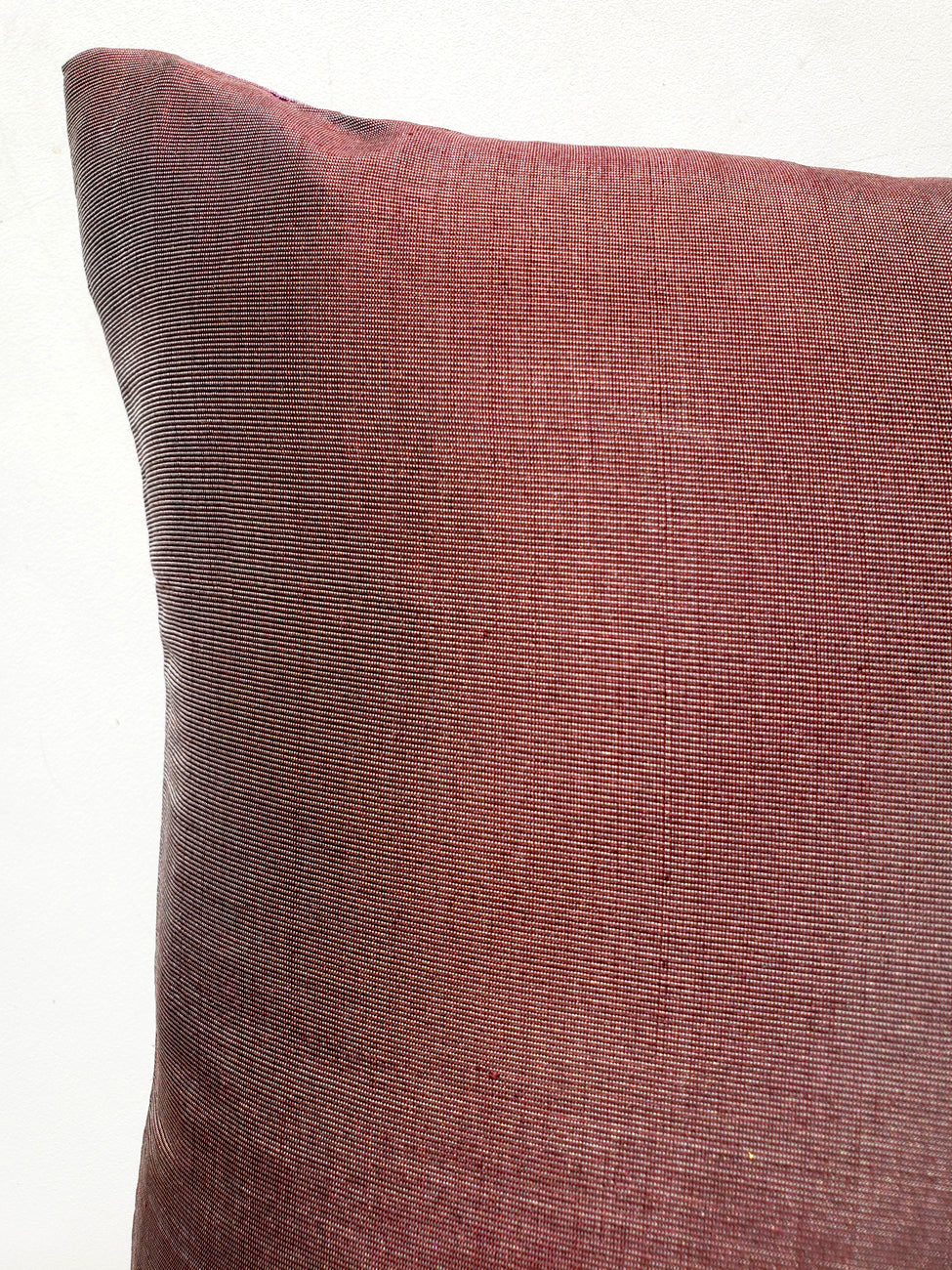 Thai Silk Modern Ikat Pillow Cranberry Brown