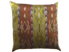Thai Silk Modern Ikat Pillow Navajo