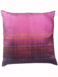 Purple Modern Silk Ikat Pillows Sold As Pair