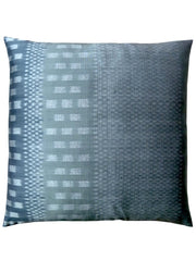 Thai Silk Modern Ikat Pillow Silver Charcoal