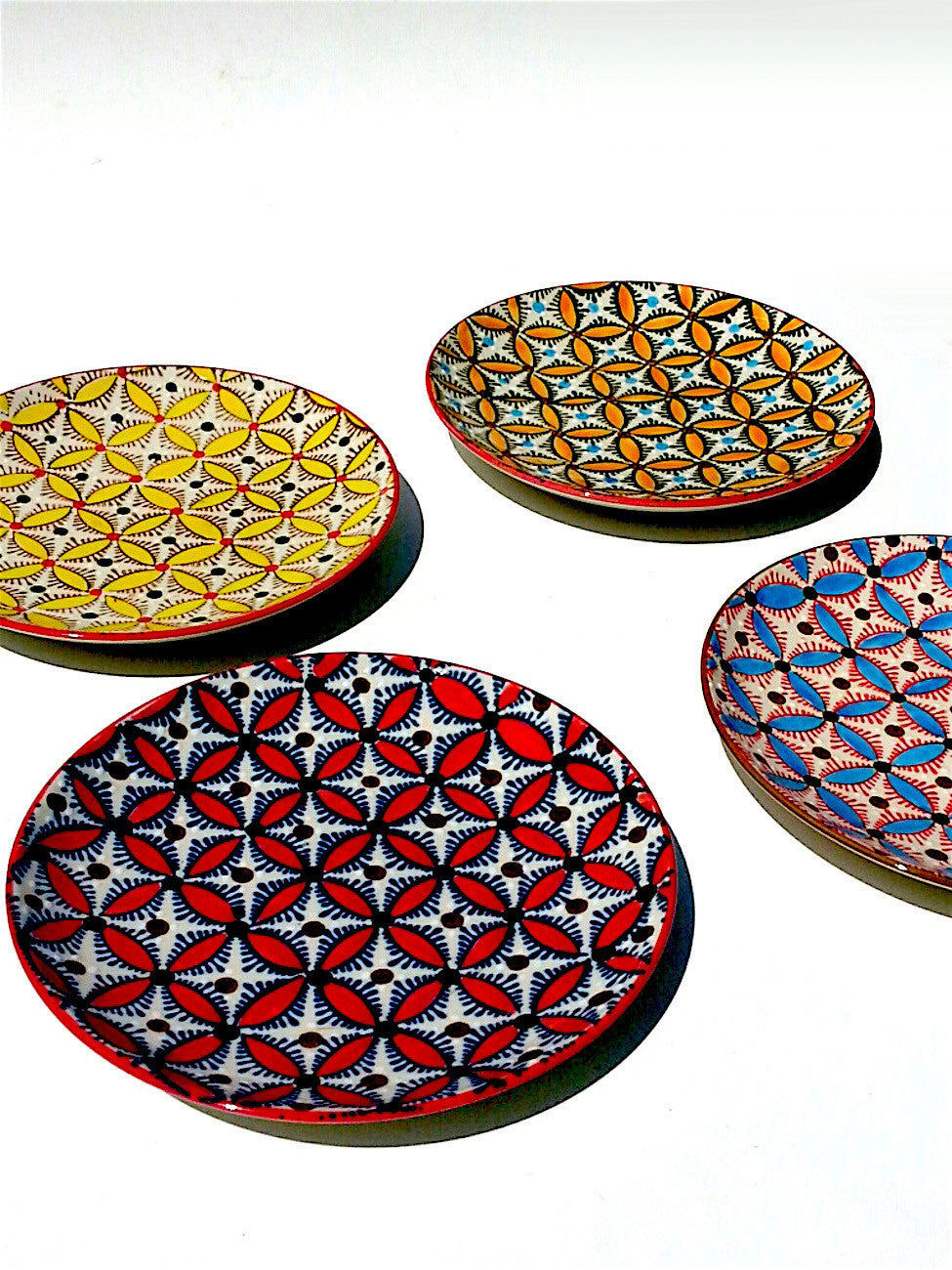 Salad Plate Mosaic Design Set Of 4
