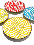Salad Plate Block Design Set Of 4