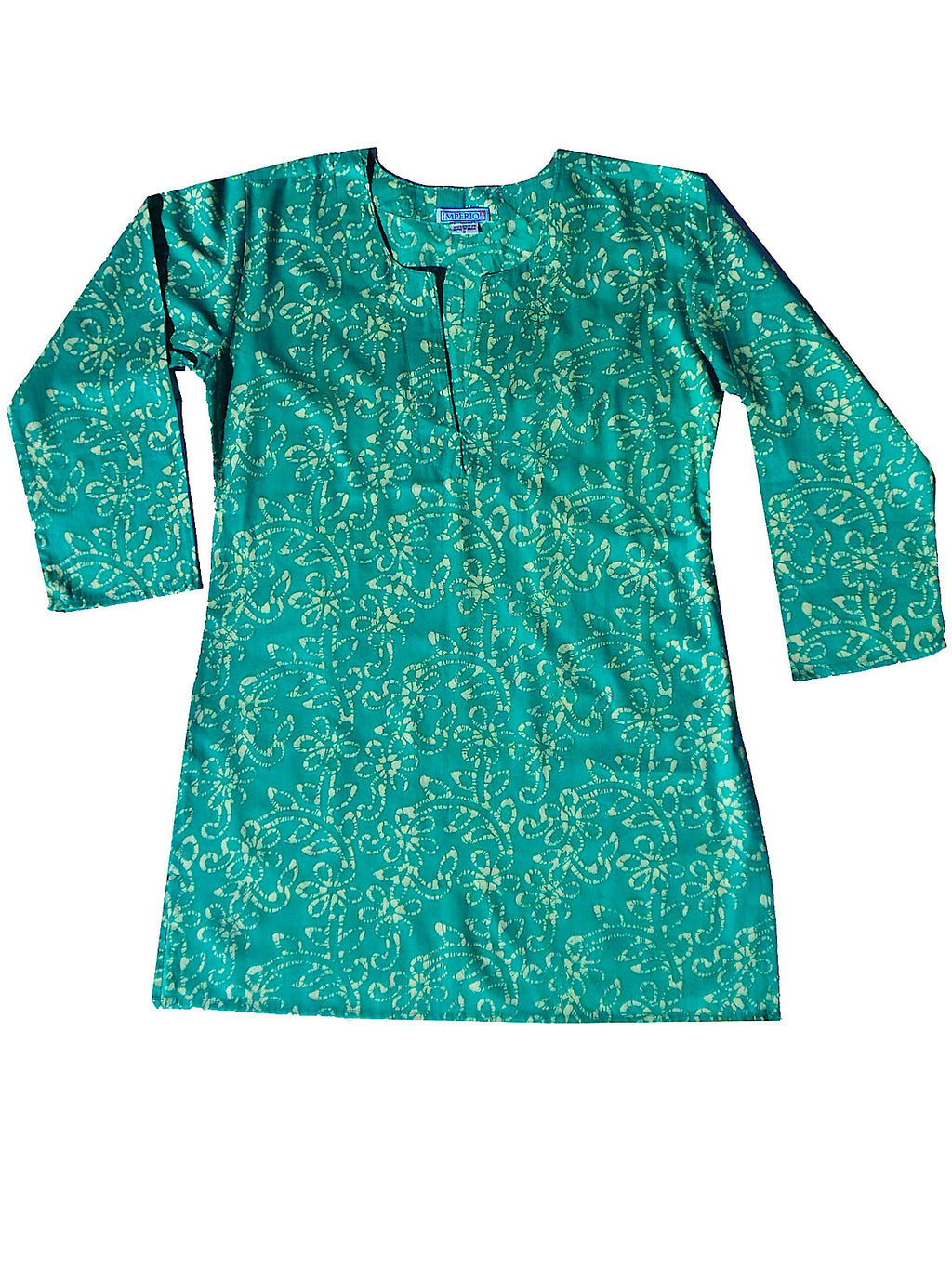 Raja Cotton Tunic Aqua Batik