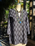 Raja Cotton Tunic Arabia Black