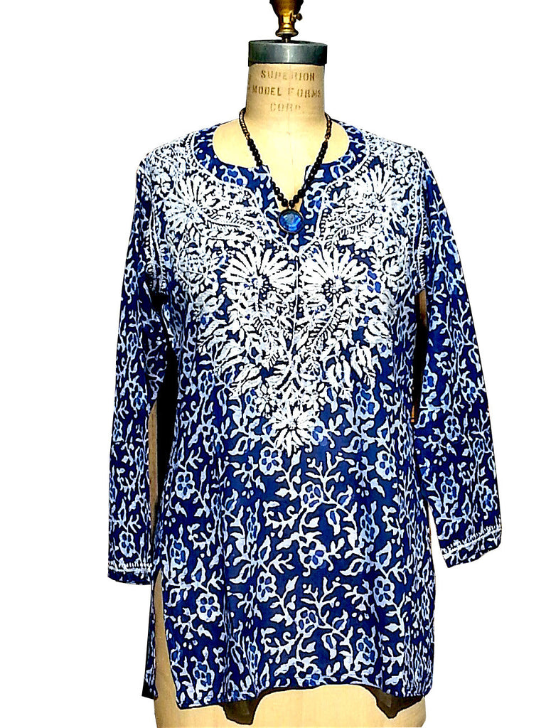 Cotton Tunic with Hand Embroidery