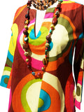 Raja Cotton Tunic Groovy Colorblock
