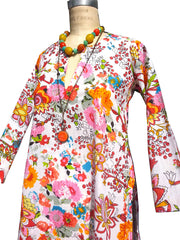 Raja Cotton Tunic Flora Japonica