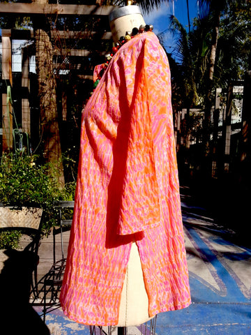 Raja Cotton Tunic Orange Pink Shibori