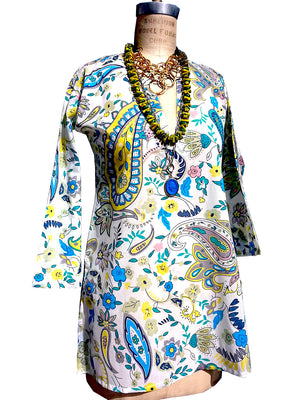 Raja Cotton Tunic Paisley Pastel