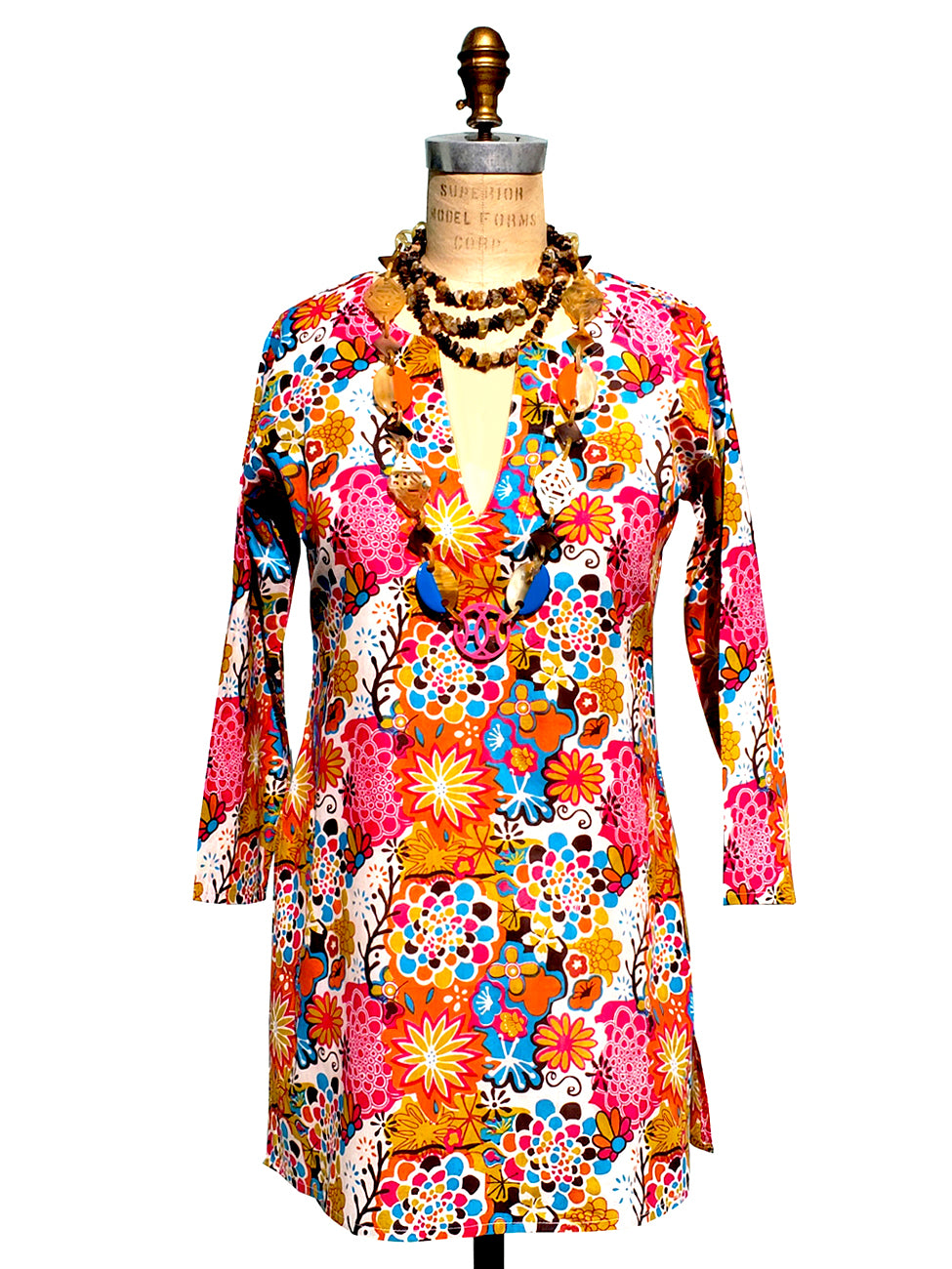 Raja Cotton Tunic Flower Power