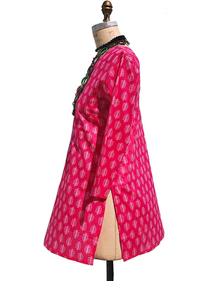 Raja Cotton Tunic Fuchsia Coral