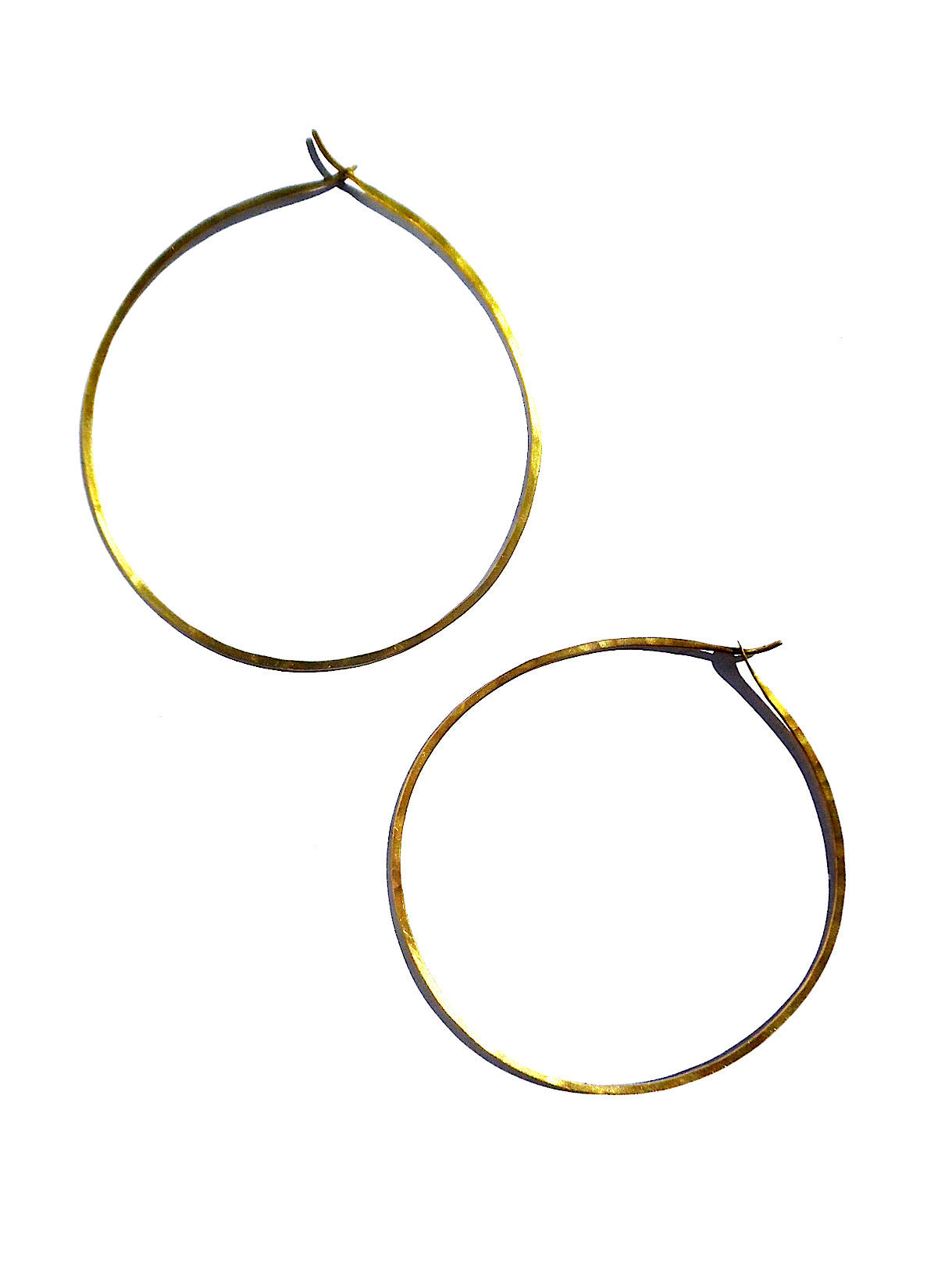 Hoop Earrings Extra Large Gold On Brass