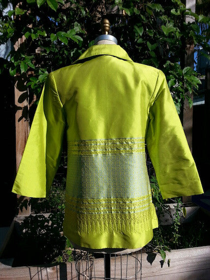 Thai Silk Cocktail Evening Jacket One Of A Kind