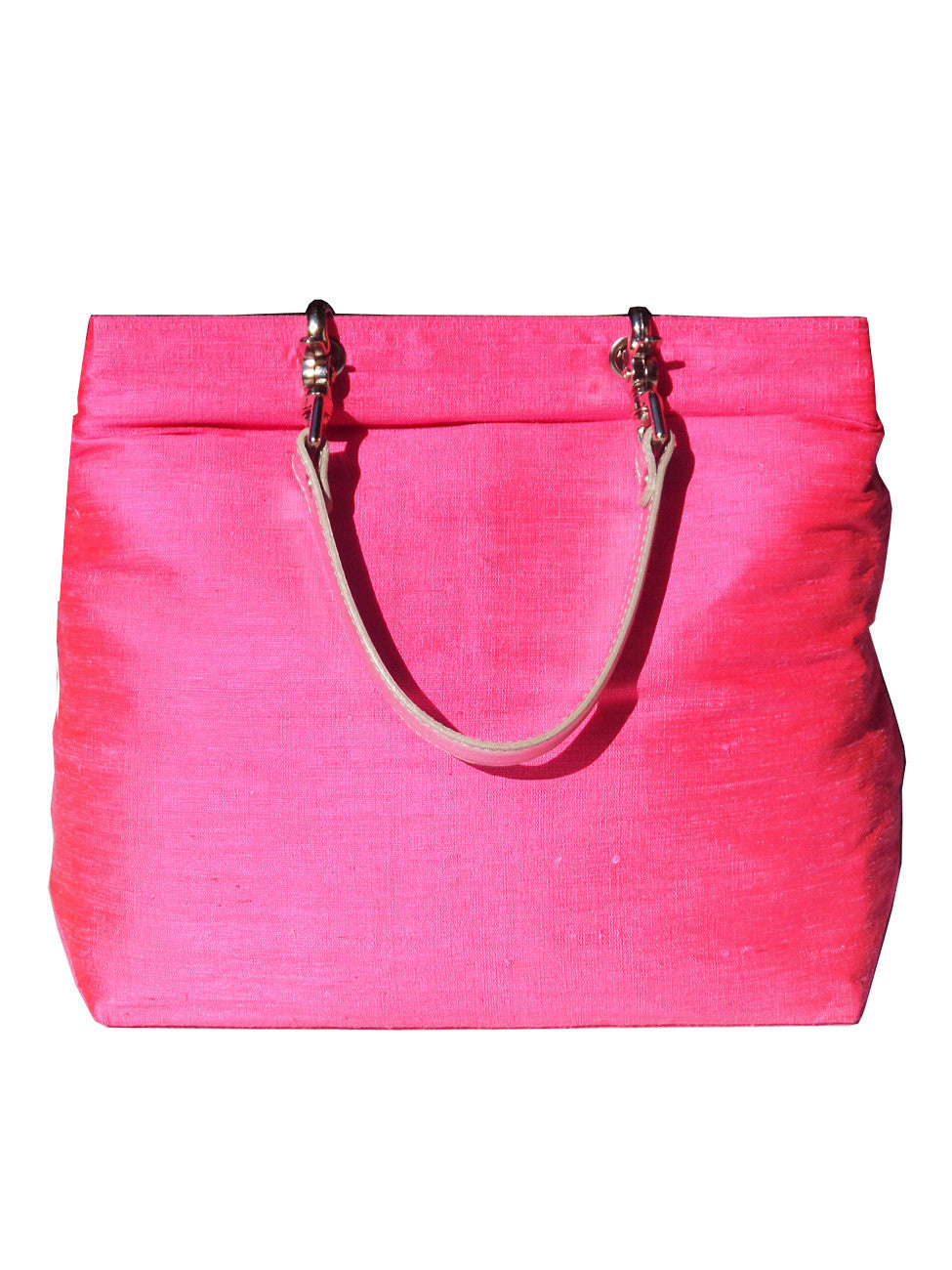 Silk Tote Bags In Assorted Colors