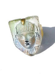Ring Hand Cast French Glass Egyptian