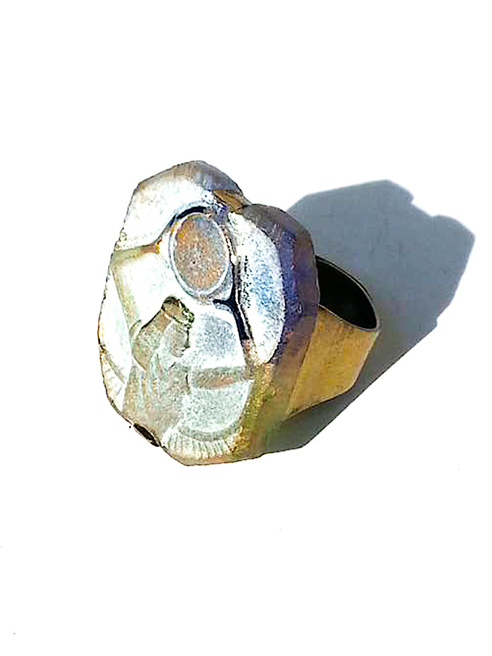 Ring Hand Cast French Glass Osiris