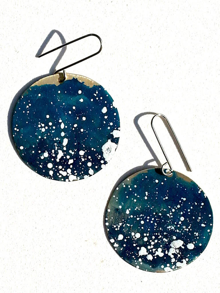 Earrings Disco Alpaca Galaxy