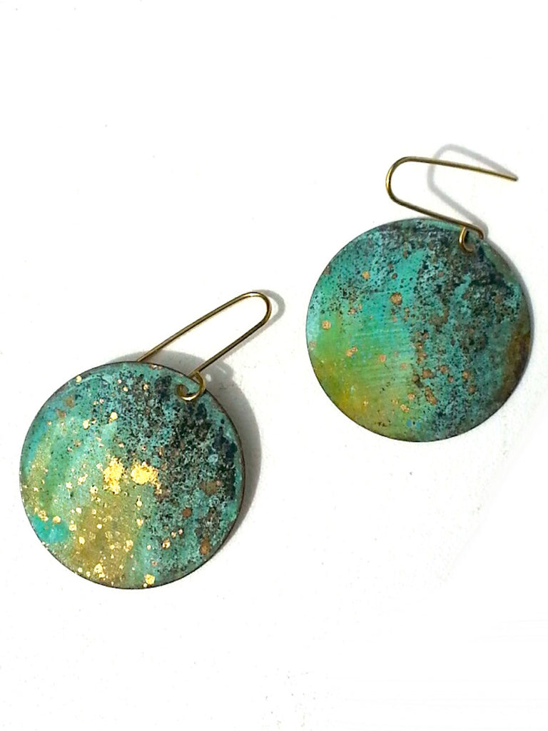 Earrings Disco Garden Patina