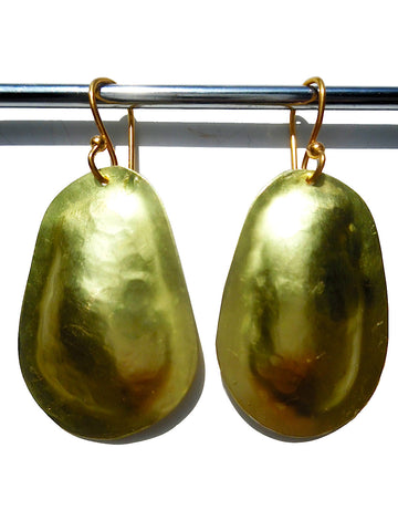 Earrings Small Drop Gold On Brass