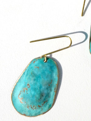 Earrings Small Drop Patina