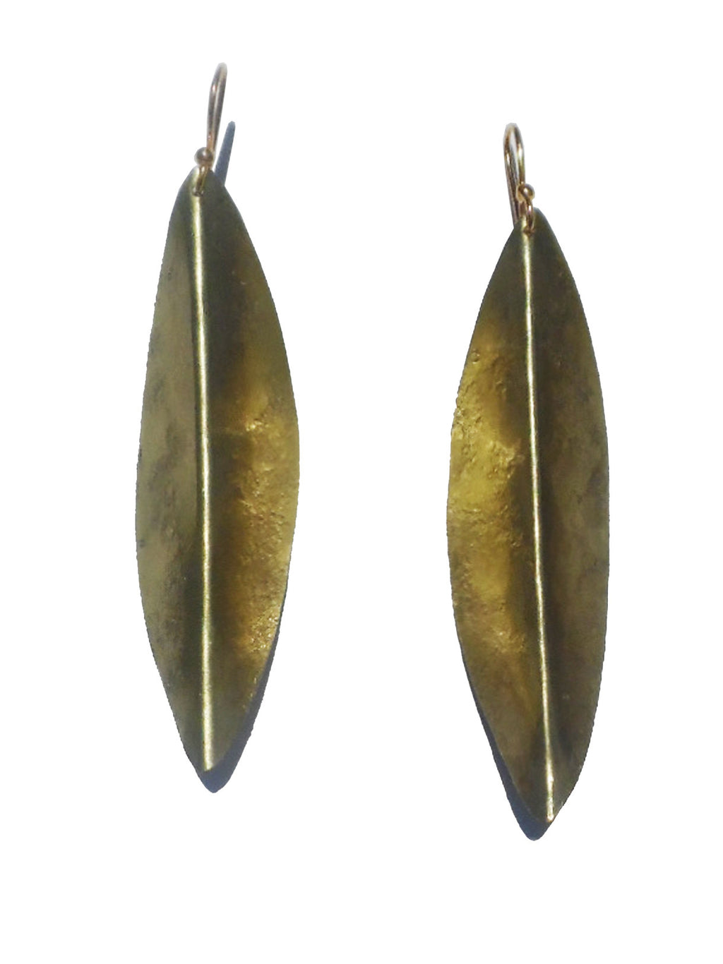 Earrings Arrow In Gold On Brass