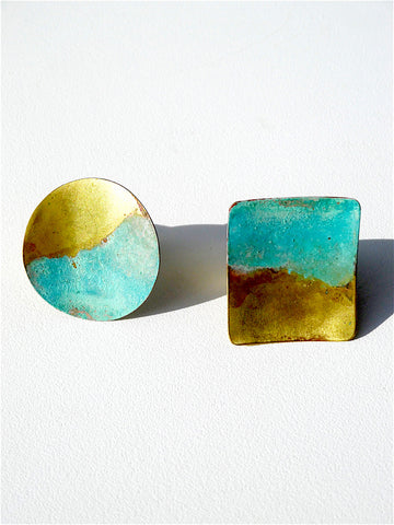 Statement Rings in Brass Gold Patina