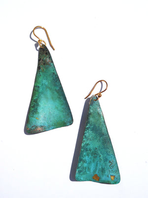 Earrings Piramide Patina Medium