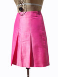 Pleated Cocktail Skirt Thai Silk Carrot