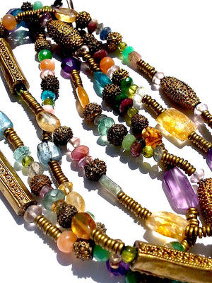 Necklace Semiprecious Mix Double Length