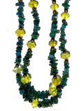 Necklace Apatite and Peridot Double Length